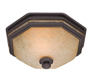 Hunter 82023 Belle Meade 80cfm Ceiling-Exhaust Bath Fan with Snowflake Glass