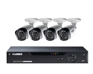 LOREX LHV21081TC4B 8-Channel MPX 1080p HD 1TB DVR with 4 Weatherproof IR Cameras