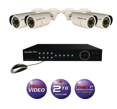 SECURITY LABS SLM7220 1080p HD PoE-IP 2TB DVR with 4 Cameras