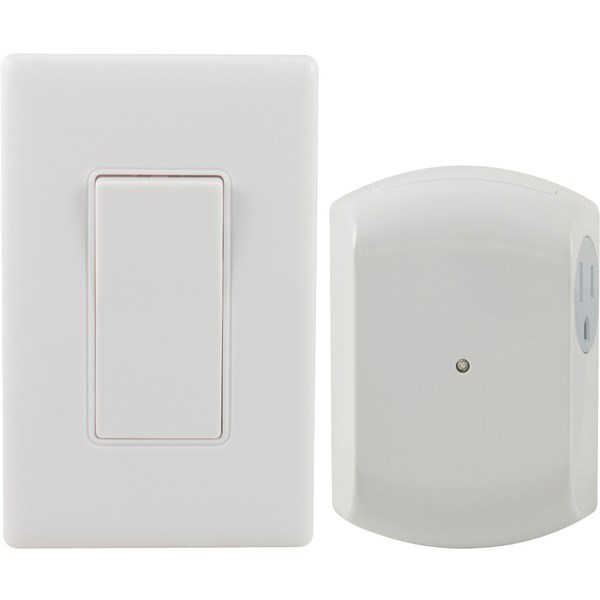 GE 18279 Wall-Switch Light Control Remote with 1 Outlet Receiver
