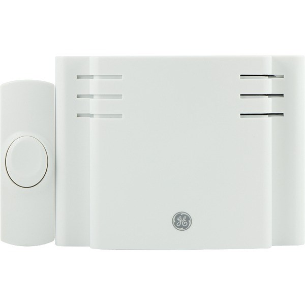 GE 19248 Battery-Operated 8-Melody Door Chime with Push Button