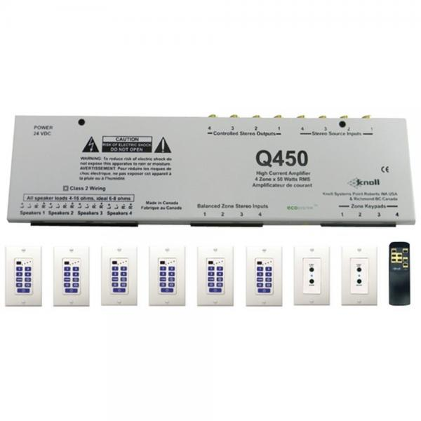 Knoll Systems Q450K 4-Source Audio Distribution Kit with Amp (KNLQ450K)