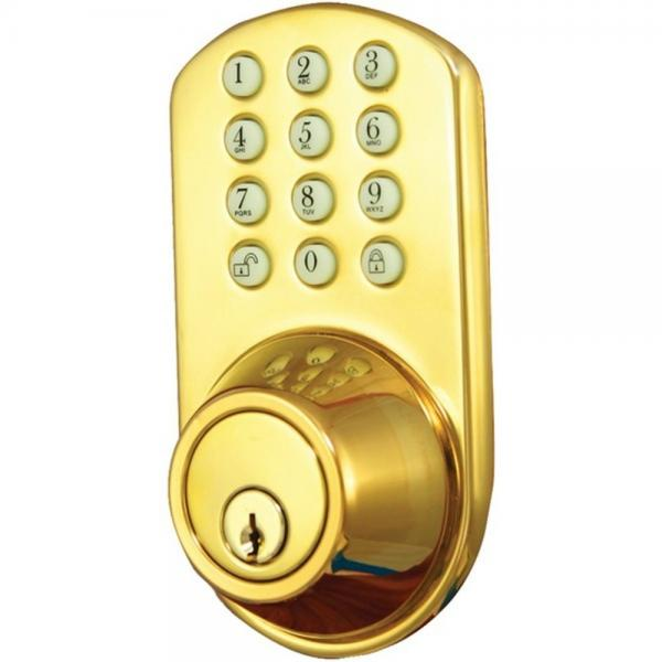 Morning Industry HF01P Dead Bolt Polished Brass W/Electronic Touchpad  (MIYHF01P)