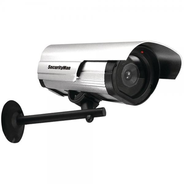Security Man SM-3802 Simulated Security Camera Indoor/Outdoor W/Flashing LED (MCY3802)