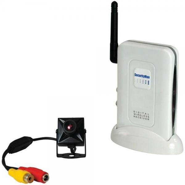 SecurityMan DigiminiAir Digital Wireless Mini Indoor Security Camera Kit W/Audio (MCYDMAIR)
