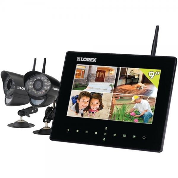 Lorex LW2932 Wireless Security System 9 LCD SD Recording 2 In/Outdoor Cams (LORLW2932)