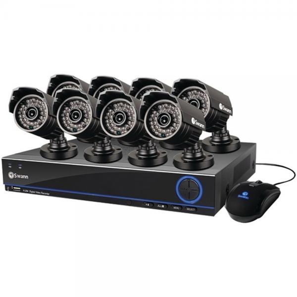 Swann SWDVK-832008S-US 3200 8-Ch 500GB DVR Security System W/ 8 Cameras (SCUDVK832008S)