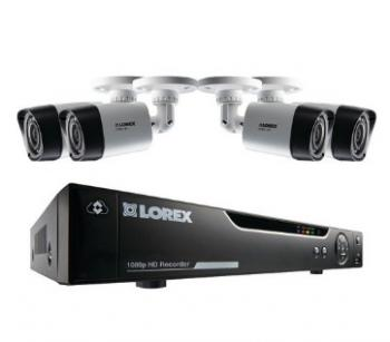 LOREX LHV21041TC4 4-Channel MPX 1080p HD 1TB DVR with 4 Weatherproof IR Cameras