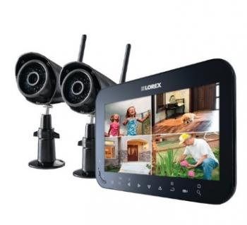 "LOREX LW2742 Wireless 4-Channel Surveillance System with 7"" LCD Screen & 2 Wireless Cameras"