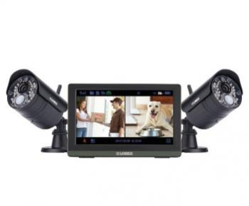 "LOREX LW2772H Wireless 4-Channel 720p HD Touchscreen Surveillance System with 7"" LCD Screen & 2 Wireless Cameras"