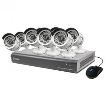SWANN SWDVK-1644008-US 8-Channel 720p AHD 1TB DVR with 8 PRO-A850 Bullet Cameras