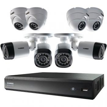 LOREX LHV00161TC8PM 16-Channel MPX 720p HD 1TB DVR with 4 Bullet & 4 Dome Cameras