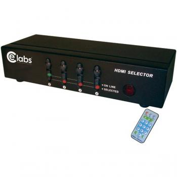 CE LABS HM41SR 4-In, 1-Out HDMI(R) Switcher with Remote