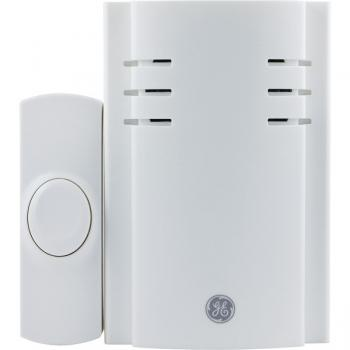 GE 19299 8-Melody Plug-in Door Chime with Push Button