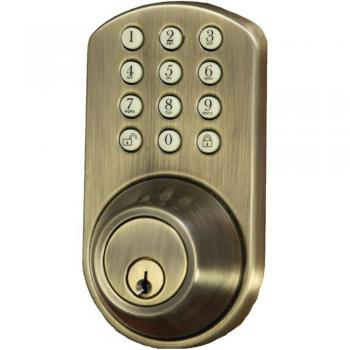 Morning Industry HF-01AQ Dead Bolt Electronic Touchpad Antique Brass (MIYHF01AQ)