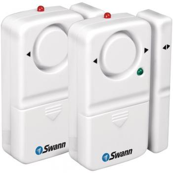 Swann SW351-MD2 Magnetic Alarm Kit Complete Stand-Alone Window & Door 2 Pack (SCU351MD2)
