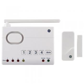 GE 45142 Choice-Alert Wireless Alarm System 4 Zones Hold up to 16 Total Sensors (JAS45142)