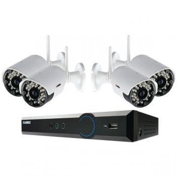 LOREX LH03041TC4W 4-Channel Stratus Cloud Connect 1TB DVR with 4 Real-time Wireless Cameras (LORLH03041TC4W)
