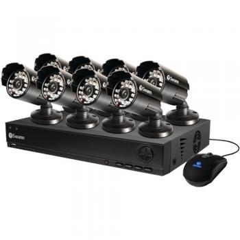Swann SWDVK-810008-US 1000 8-Ch D1 DVR Security System W/ 500GB HDD & 8 Cameras (SCUDVK810008)