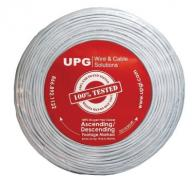 UPG 77034 22-Gauge, 4-Conductor Alarm White Cable, 500ft Coil Pack (Stranded)