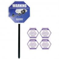 SECURITYMAN SM-SIGN Reflective Security Warning Sign with Yard Stake