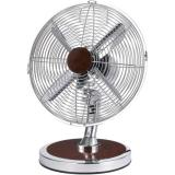 Optimus F-8121 12 Table Fan Oscillating Chrome W/Red Wood Finish Accents (OPSF8121)
